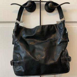 Michael Kors Black Leather Large Shoulder Bag